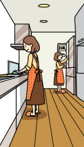 キッチン女性イラスト